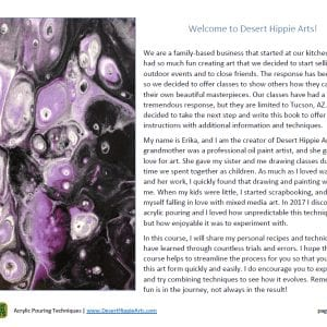 Acrylic Paint Pouring Level 1 Desert Hippie Arts 5
