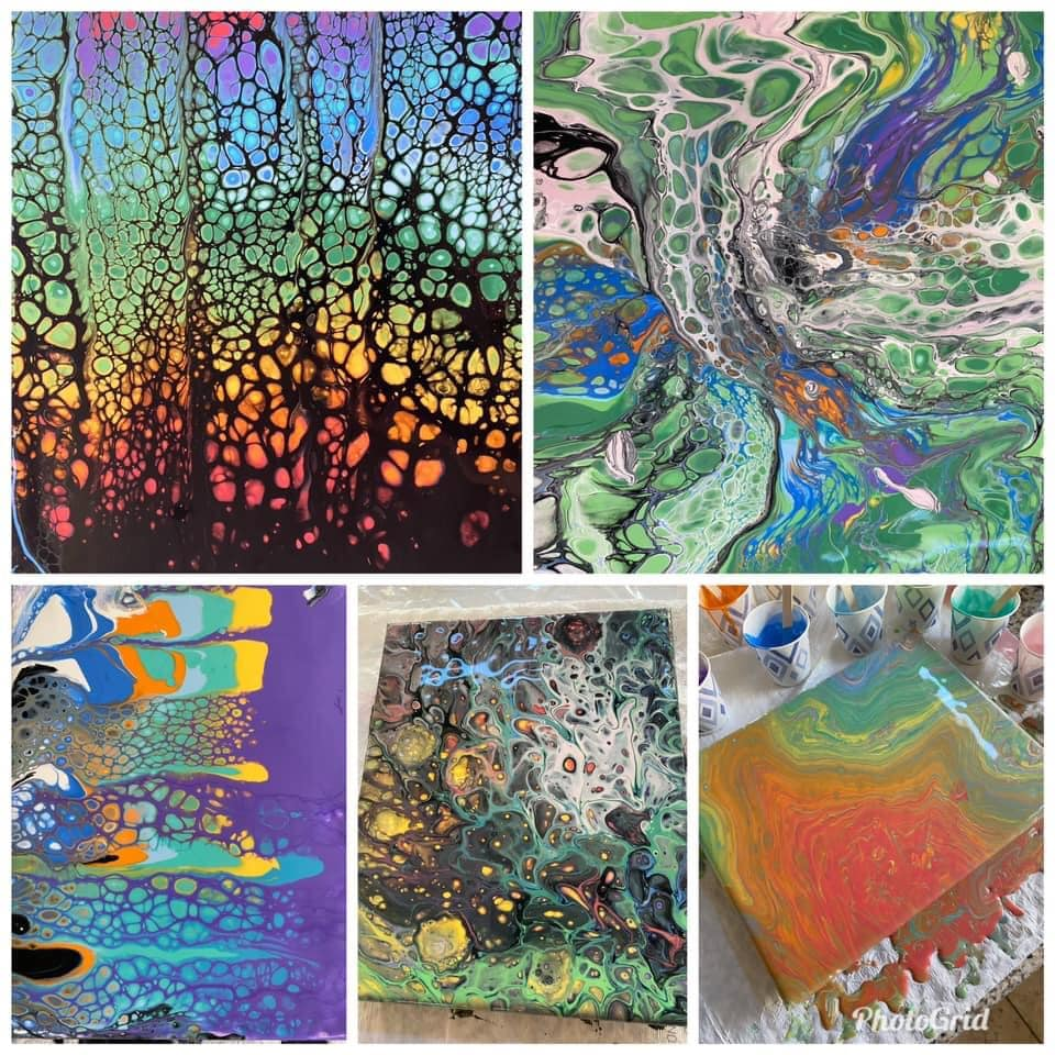 Beginner Acrylic Paint Pouring Techniques Level 1