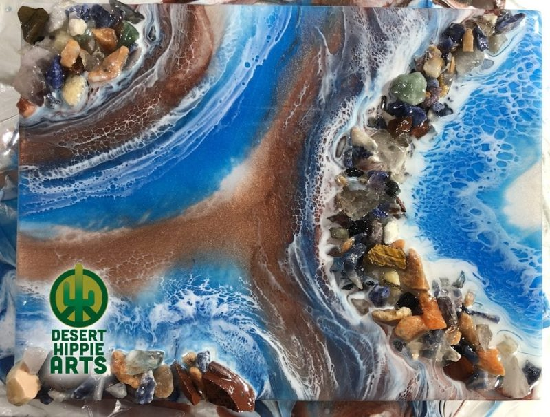 Desert Hippie Arts Rocky Waters Resin Art 5