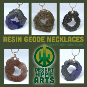 Resin Geode Necklace Small