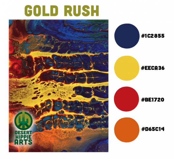 Gold Rush Color Scheme Desert Hippie Arts