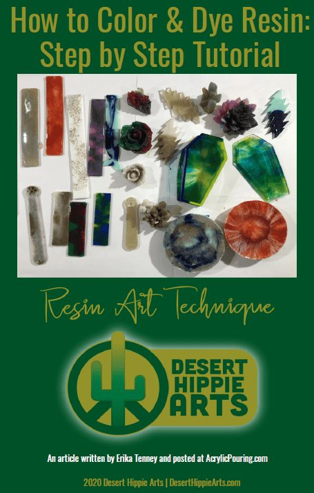 How to color or dye resin step by step DESERT HIPPIE ARTS