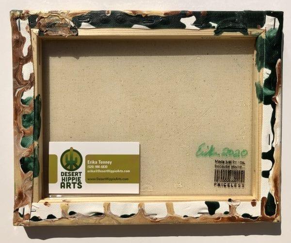 """Coyote Cactus"" acrylic pour painting Desert Hippie Arts 2"