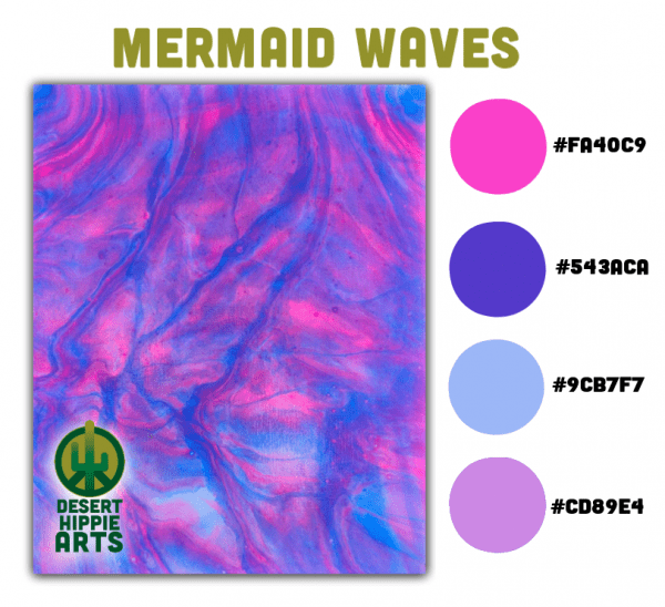 Mermaid Waves Color Scheme Desert Hippie Arts