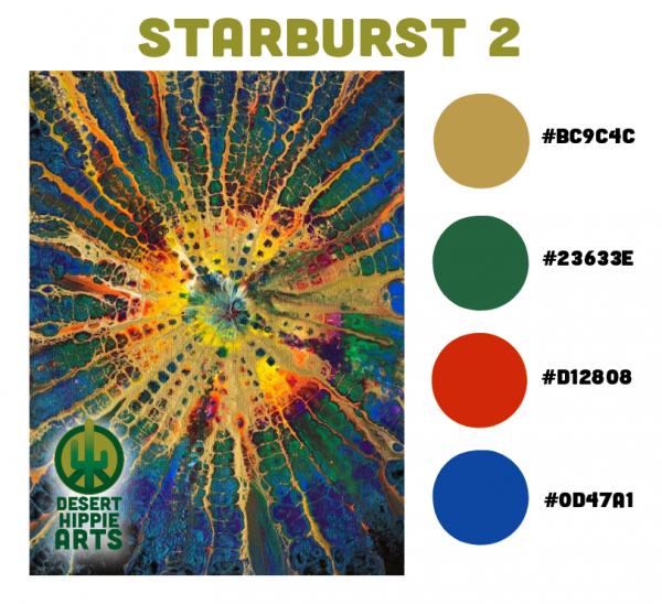 Starburst 2 Color Scheme Desert Hippie Arts