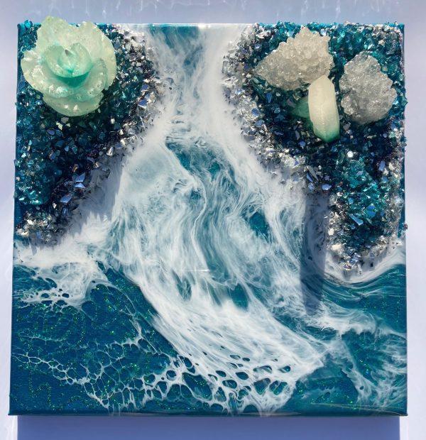 resin art Blue Crystal 2
