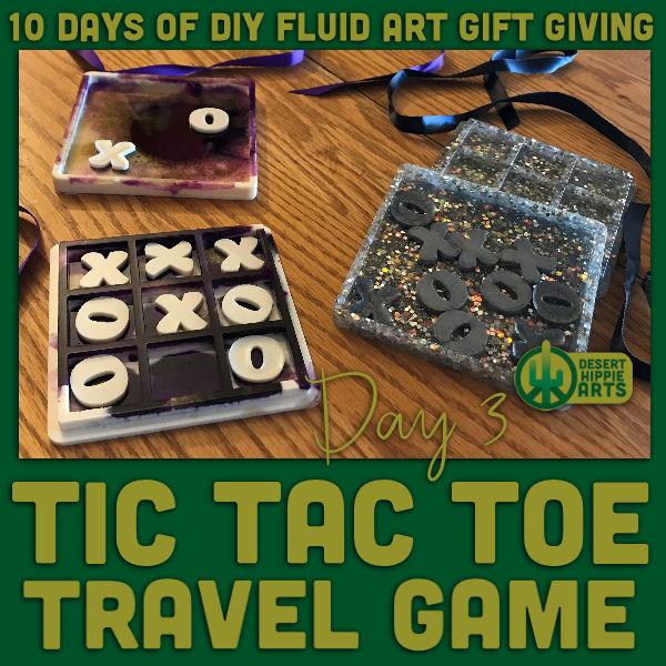 Tic Tac Toe resin travel game