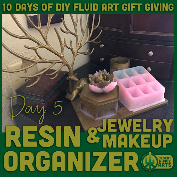Resin Jewelry and Makeup Organizer