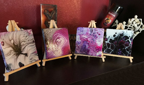 Desert Hippie Arts Mini Art Canvas with Easel