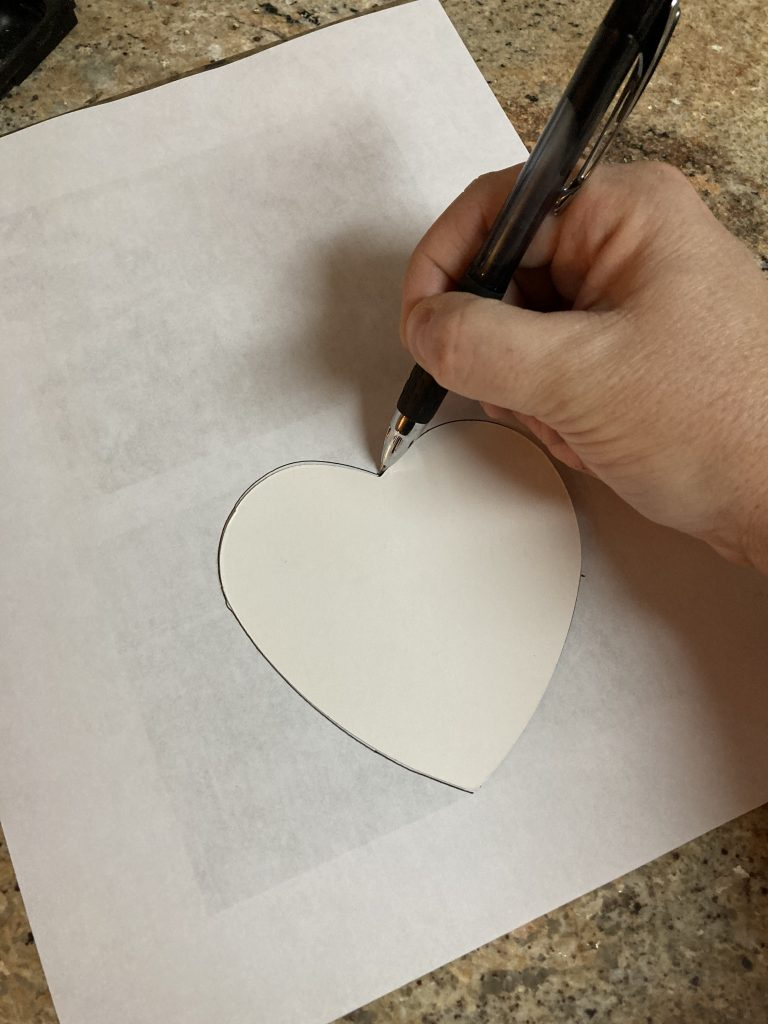 Wood Heart Frame photo template